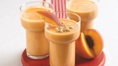 Honey Nut-Peach Smoothies
