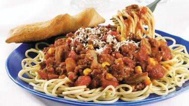Sassy Fiesta Spaghetti