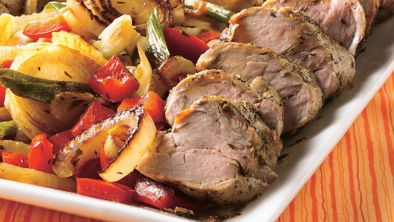 Savory Grilled Pork Tenderloins with Herbed Vegetables