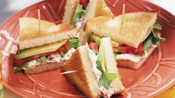 Avocado, Lettuce and Tomato Sandwiches