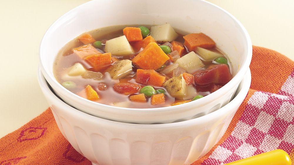 Slow-Cooker Two-Potato Vegetable Soup