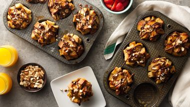 Muffin-Tin Cream Cheese-Nutella™ French Toast