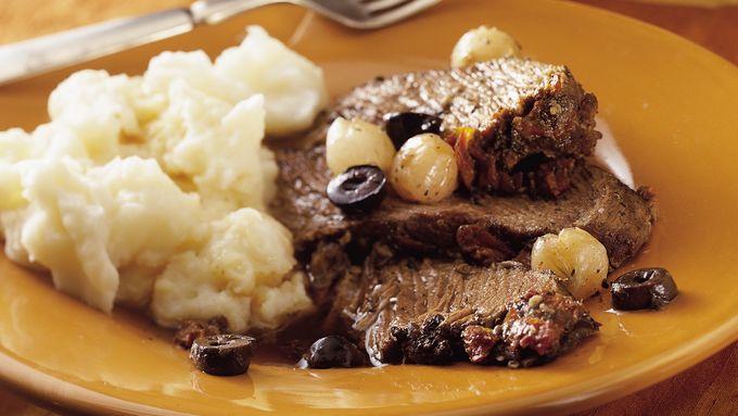 Slow-Cooker Mediterranean Pot Roast recipe - from Tablespoon!
