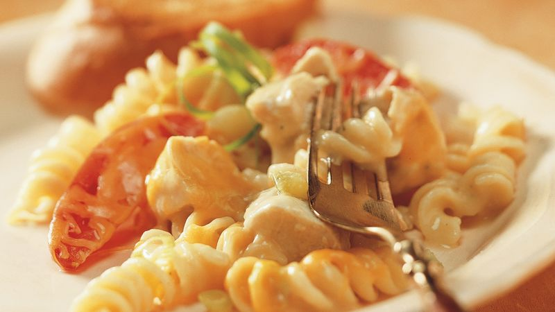 Cheesy Chicken and Rotini Casserole