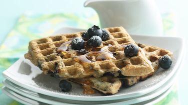 Whole Grain Blueberry Waffles