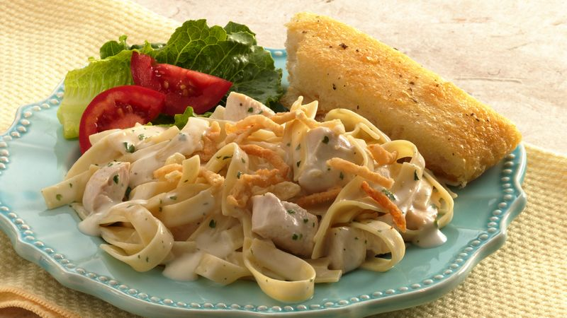 Crunchy Ranch Chicken Fettuccine