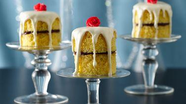 English Rose Jam Cake Stacks