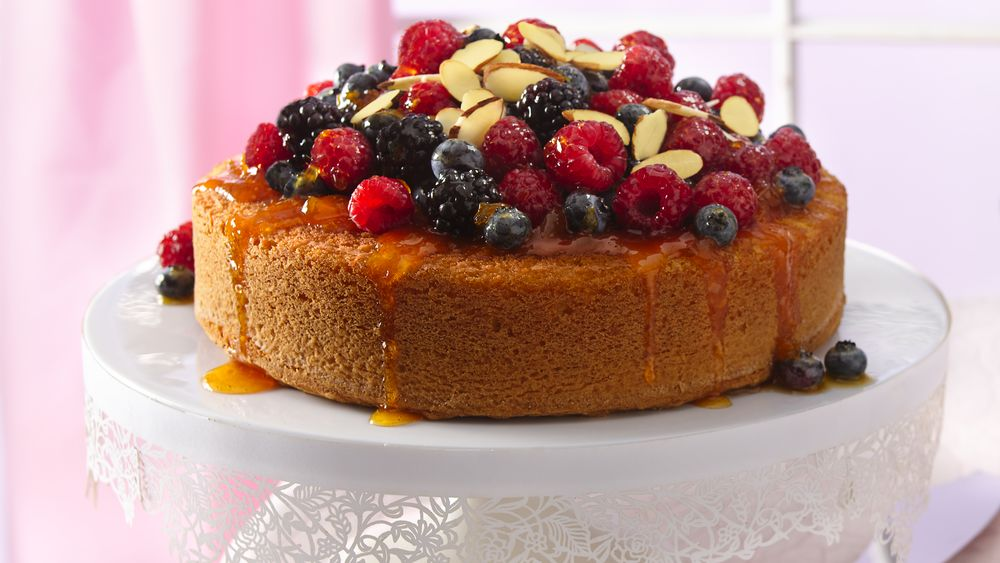 Fruit-Topped Almond Cake