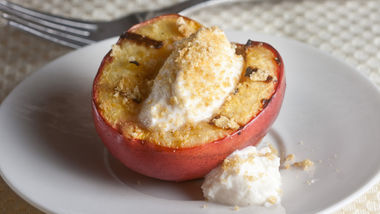 Grilled Peaches with Honeyed Ricotta