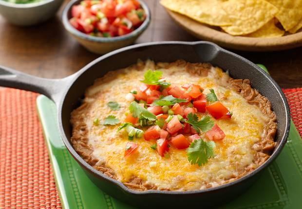 easy cheesy bean dip
