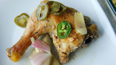 Baked Chicken with Artichokes and Jalapeños