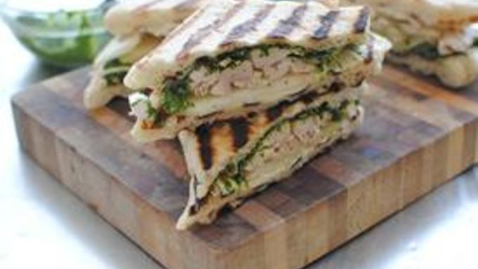 Pear, Brie and Chicken Panini