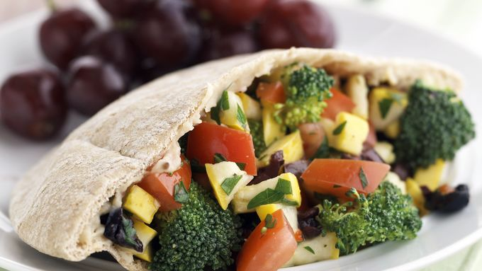 Skinny Veggie Salad in a Pocket