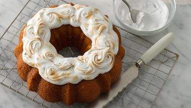 Sweet Potato Bundt Cake with Toasted Marshmallow Topper