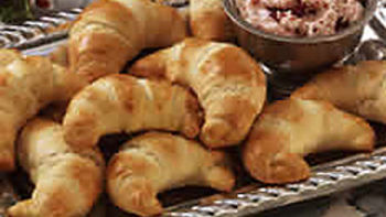 Glazed Crescent Rolls with Cranberry-Orange Butter