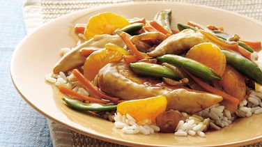 Crunchy Asian Chicken and Vegetables