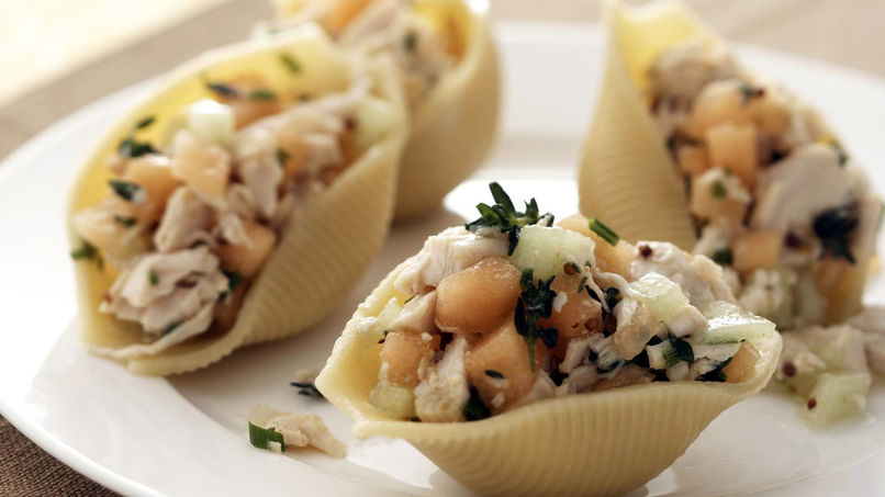 Chicken and Double-Melon Stuffed Shells