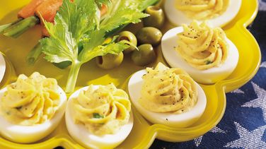 Honey Dijon Deviled Eggs