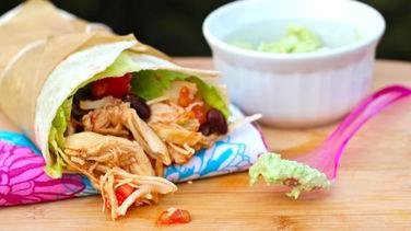 Chipotle Chicken Wraps with Avocado Salsa