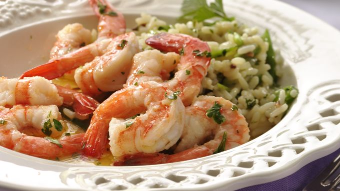 Shrimp Scampi with Rice