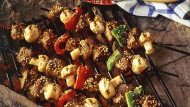 Grilled Teriyaki Beef Kabobs