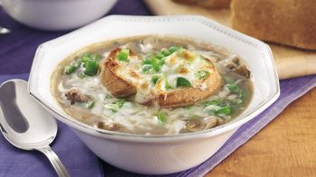 Philly Cheesesteak Onion Soup