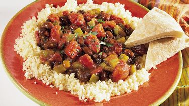 Spicy Black Beans with Couscous