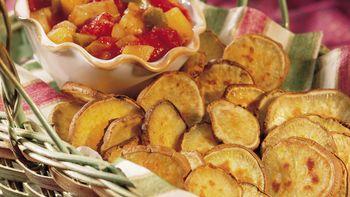 Sweet Potato Fries with Easy Fruit Salsa