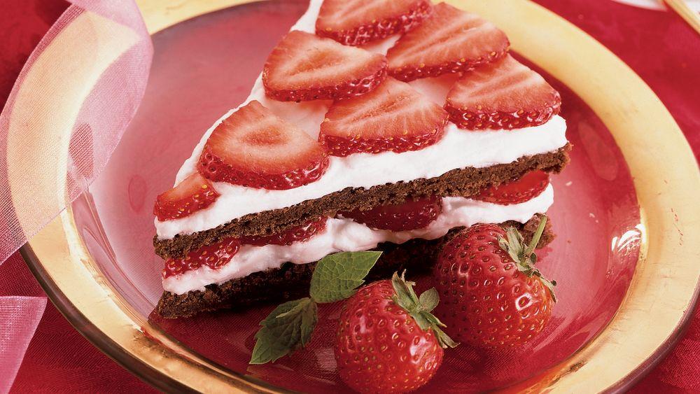 Strawberry Brownie Split
