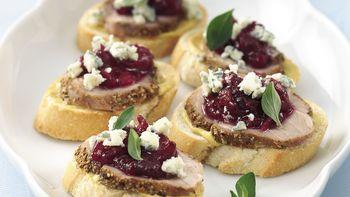 Spiced Pork Tenderloin Crostini
