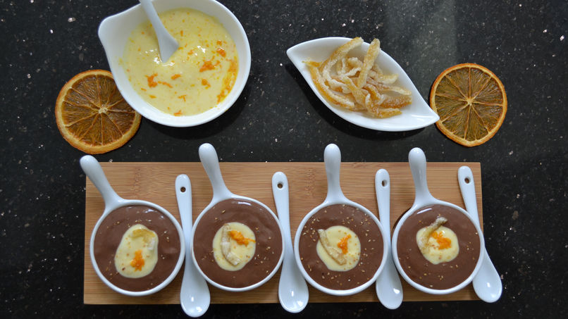 Chocolate and Orange Cream Pudding