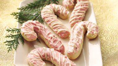 Glazed Candy Cane Cookies