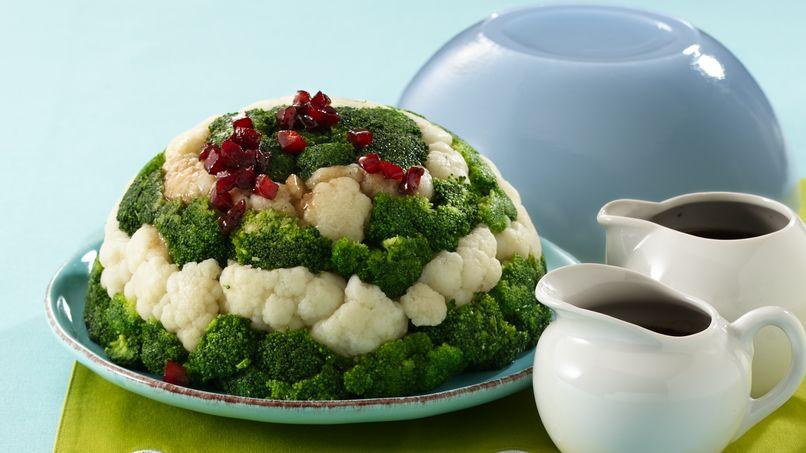 Cauliflower and Broccoli Molded Salad
