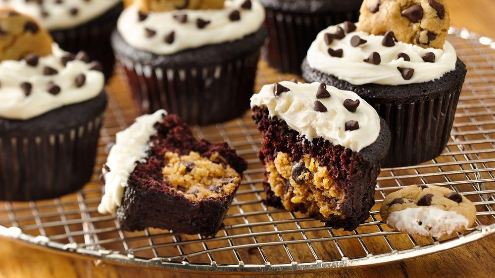 Gluten-Free Chocolate Cookie Dough Cupcakes