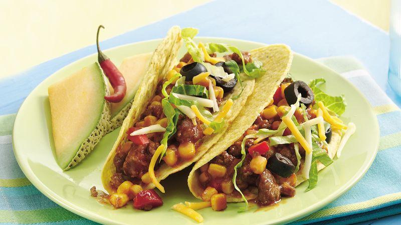 Sloppy Joe Confetti Tacos