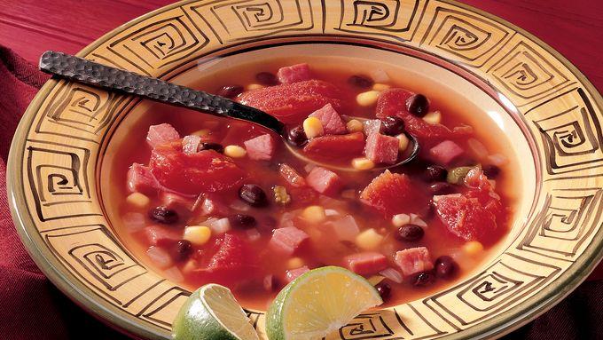 Caribbean Ham and Black Bean Soup
