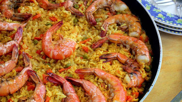 Shrimp and Brown Rice Paella