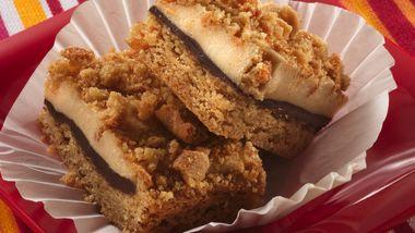 Chocolate-Cream Cheese-Peanut Butter Bars