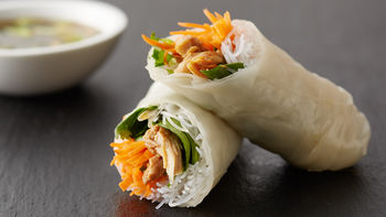 Garlic Chicken Spring Rolls