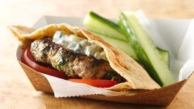 Mini Greek Turkey Burgers with Cucumber Sauce Recipe ...