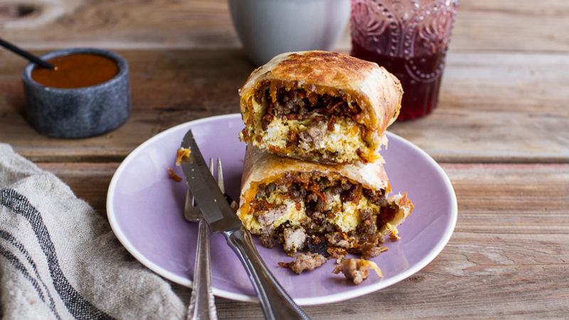 Crunchy Breakfast Wrap