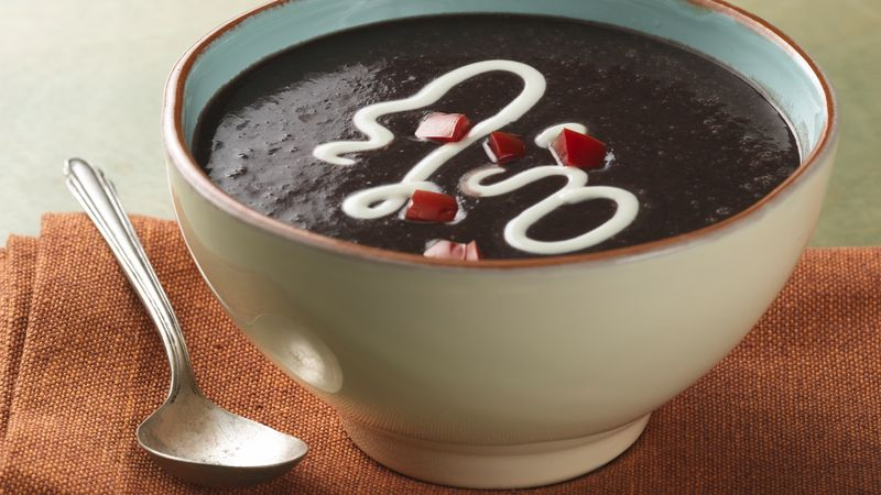 Dutch Oven Black Bean Soup