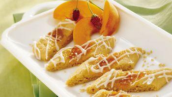 Glazed Apricot Jam Strips