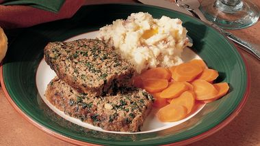 Spinach and Pine Nut Meatloaf