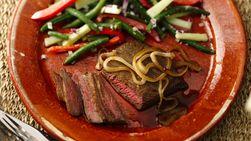 Grilled Beer Marinated Beef Steak