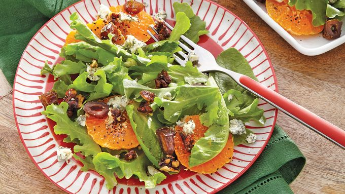 Clementine, Date and Stilton Salad