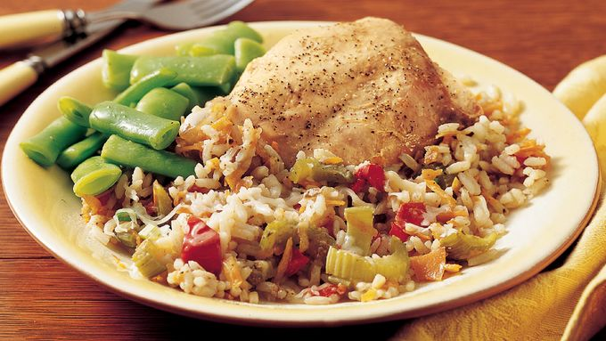 Slow-Cooker Italian Turkey-Rice Dinner