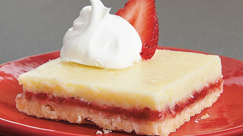 Strawberry Lemon Shortbread Bars