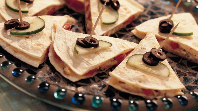 Grilled Mediterranean Quesadillas