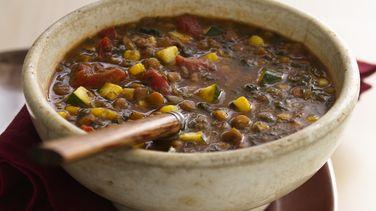 Sopa de Lentejas y  Verdura